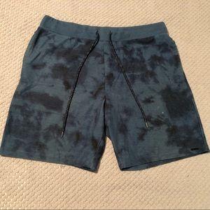 On The Byas Blue Tie Dye Cotton Blend Shorts